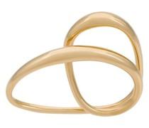 Gelbvergoldeter 'Heart' Zwei-Finger-Ring