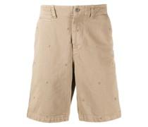 Shorts mit aufgestickten Punkten