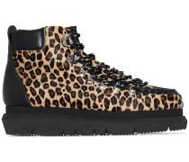 Hiking-Boots mit Leoparden-Print