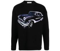 Intarsien-Pullover mit Auto
