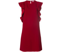 P.A.R.O.S.H. draped contrast trim dress