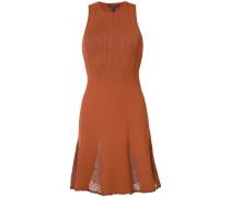 Geripptes Kleid mit Netzeinsätzen - women