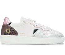 D.A.T.E. Sneakers mit Schlangenleder-Effekt