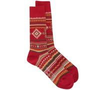 Gestrickte 'Nordic' Socken