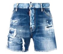 Jeansshorts mit weitem Bein