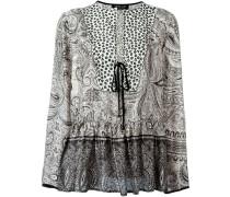 Kaftan-Bluse mit Paisley-Print