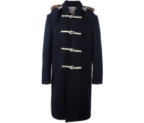 Mantel mit Pelzbesatz an der Kapuze