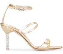 Sandalen mit Kristallabsatz