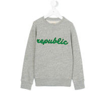 "Sweatshirt mit ""Republic""-Stickerei"
