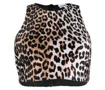 Bikinioberteil mit Leoparden-Print