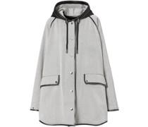 Mantel mit Lederdetails