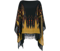 embroidered fringed poncho