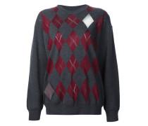 Pullover mit Rautenmuster und Cut-Outs