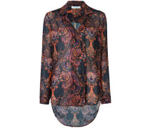 printed embroidered shirt
