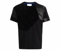 T-Shirt in Samtoptik
