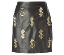 Lederrock mit Dollarzeichen aus Ketten