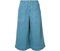 Jeans-Culottes mit Schnallen