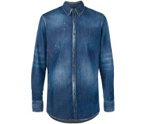washed effect denim shirt