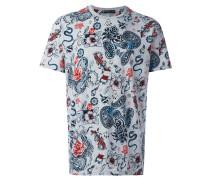 - T-Shirt mit Tattoo-Print - men - Baumwolle - XXL