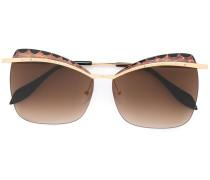 Cat-Eye-Sonnnenbrille mit Verzierung
