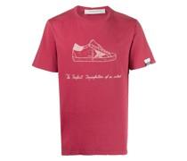 T-Shirt mit Sneaker-Print