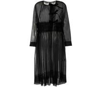 Langärmeliges Kleid mit Sheer-Effekt