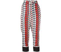 Pyjama-Hose mit Erdbeer-Print