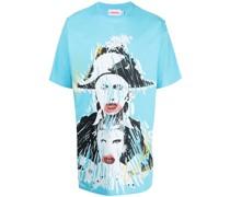 T-Shirt mit Pout-Print