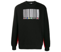 Sweatshirt mit Barcode-Logo