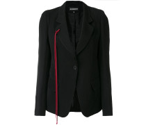 red tie detail blazer