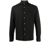 pointed-collar cotton shirt