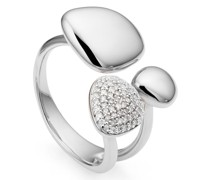 'Nura Pebble Cluster' Ring mit Diamanten