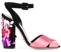 - Sandalen mit Paillettenstickerei - women
