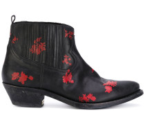 Stiefel mit floralen Applikation - women