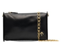 chain-trim leather cross-body bag