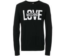 Love slogan sweatshirt