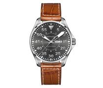 'Khaki Aviation Pilot Day Date' Armbanduhr, 46mm