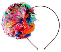 Stirnband mit Pompon - women - Straußenfeder