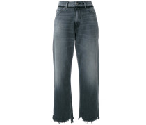 - Cropped-Jeans in Washed-Optik - women