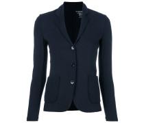 fitted jersey blazer