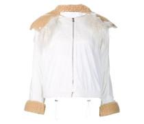 Cropped-Jacke mit Kapuze