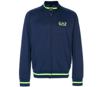 zipped logo sweatshirt