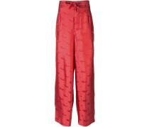 Pyjama-Hose mit Jacquardmusterung