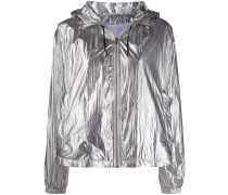 Metallic-Jacke mit Kapuze