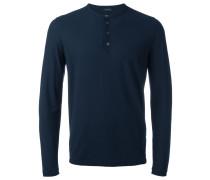 Klassisches Henley-Langarmshirt