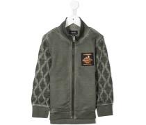 quilted zipped sweatshirt