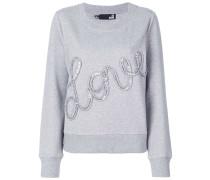 'Love' Sweatshirt mit Paillettenstickerei