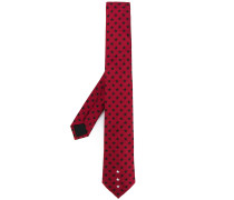 Stars embroidered tie