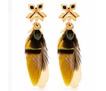 Sao Ohrringe mit Federn