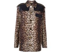 Kurzmantel mit Leopardenmuster
